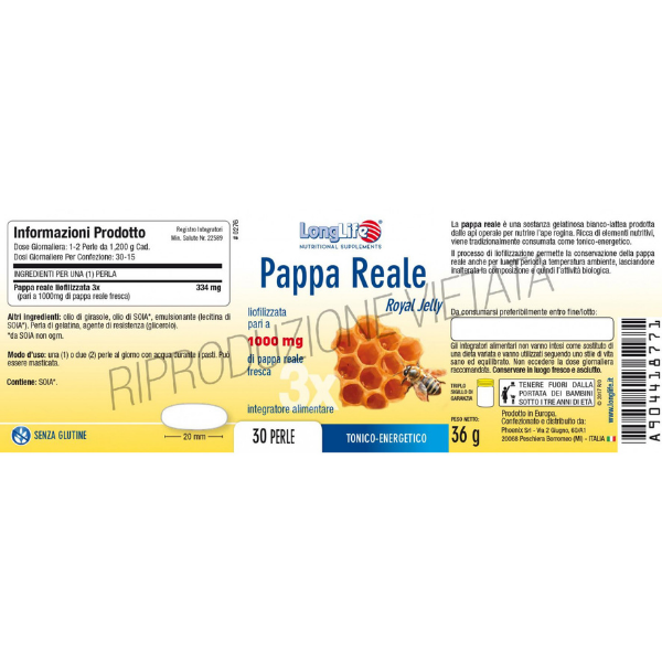 LongLife - Pappa Reale 1000mg ingredienti