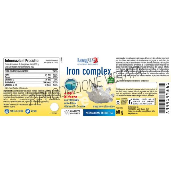 LongLife - Iron Complex ingredienti